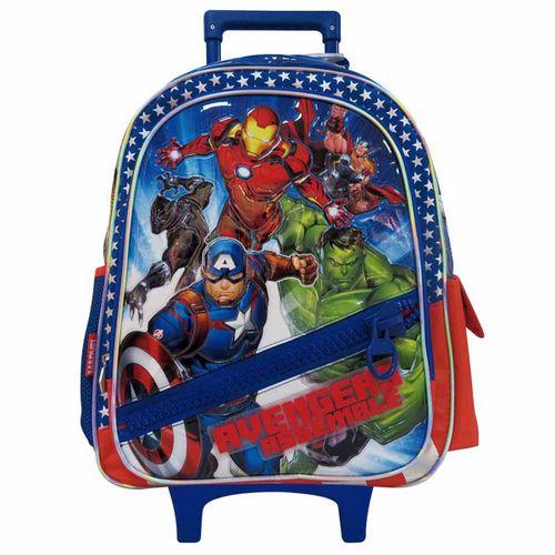 "Mochila c carro 18"" Avengers Assempble cmaxi cierre diagonal"