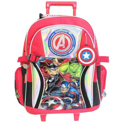 """Avengers Mochila ccarro 18"""" bolsillos y presillas laterales"""