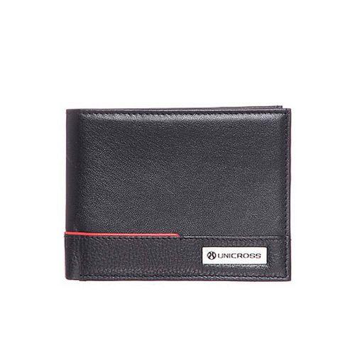 Billetera Unicross de cuero c/ vivo y doble tarjetero c/ visor