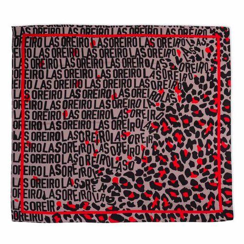 Pañuelo Las Oreiro An. Print C/Detalles En Rojo