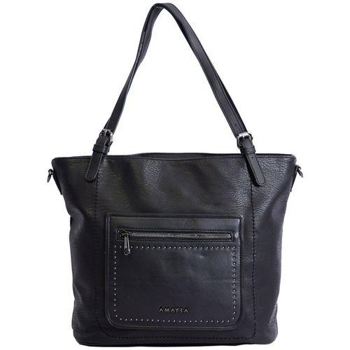 Shopper Amayra c/pespuntes y bolsillo combinado