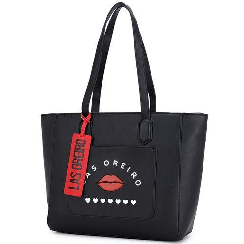 Shopper Las Oreiro c/ bolsillo e inscripcion en relieve c/ identificador