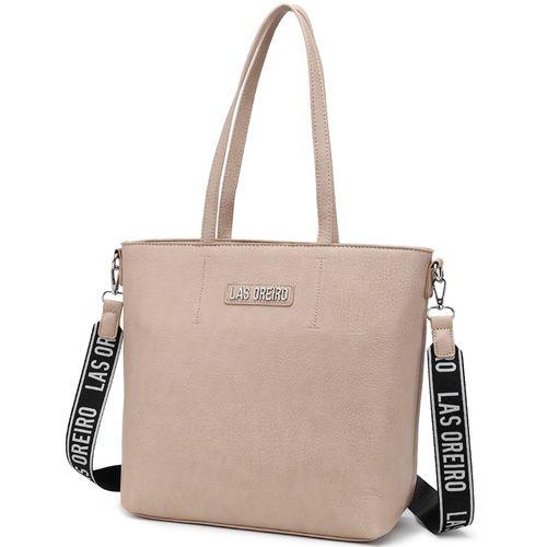 Shopper Las Oreiro c/aplique Marca y Correa Combinada